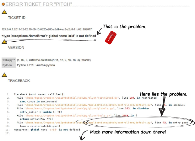 web2py error ticket