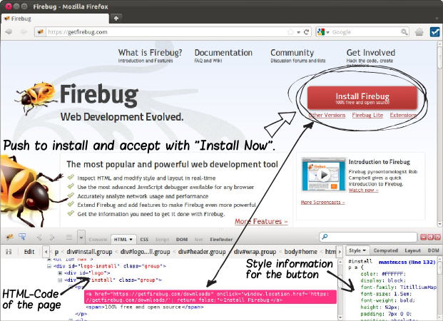 firefox firebug web2py application development