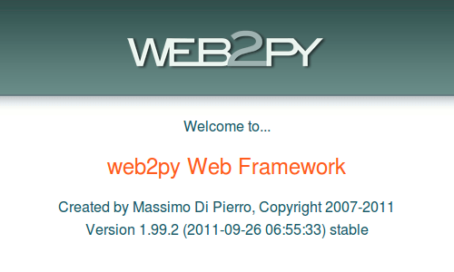 web development with web2py
